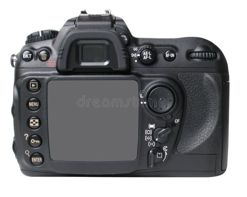 Schwarze Kamerarückseite stockbild