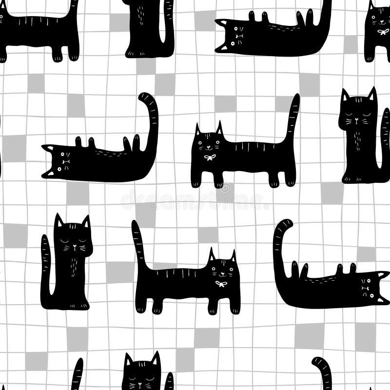 Schwarze Katze vektor abbildung. Illustration von spaß ...