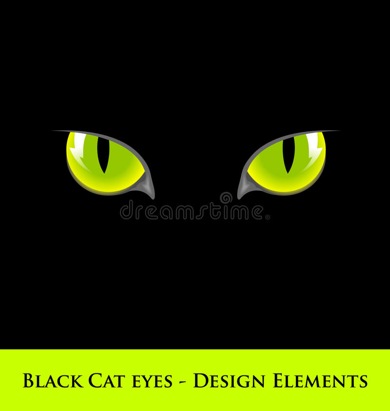 Schwarze Katzenaugen lizenzfreie abbildung