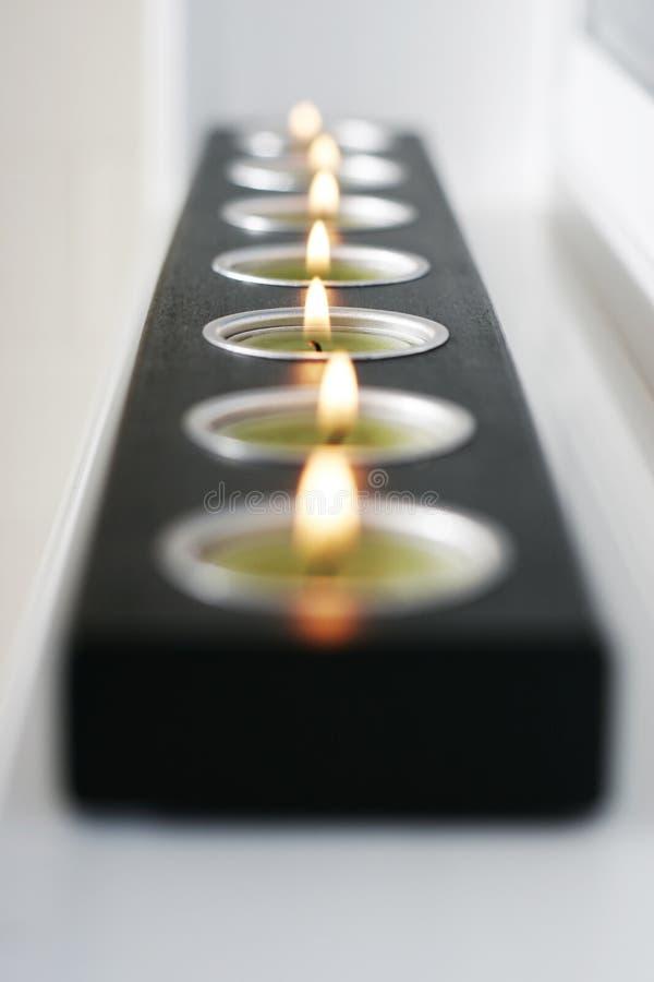 Schwarze Kerze stockfotografie
