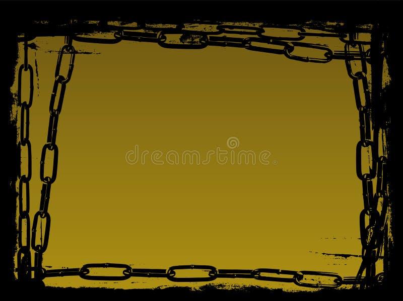 Schwarze Ketten Vector Grunge Rand stock abbildung