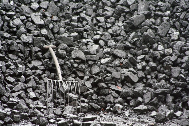 Schwarze Kohle. lizenzfreies stockbild