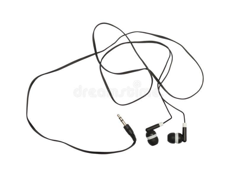 Schwarze Kopfhörer stockbilder