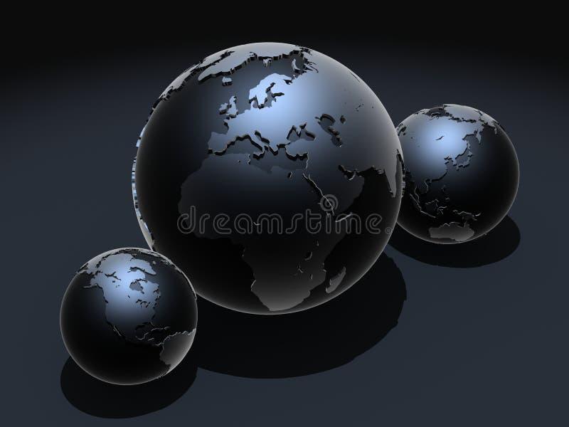 Schwarze Kugeln stock abbildung