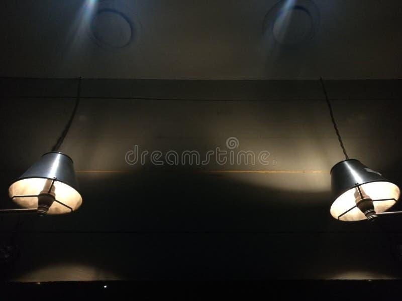 Schwarze Lampen stockbilder