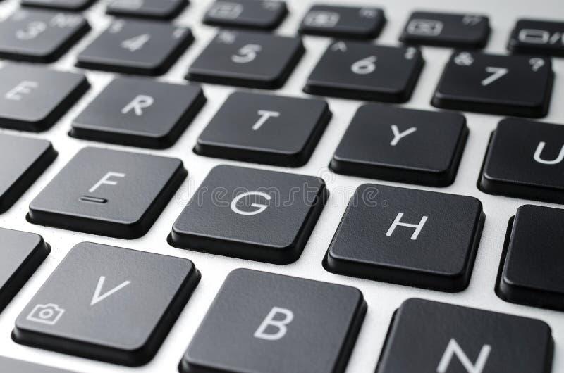 Schwarze Laptoptastaturknöpfe lizenzfreies stockfoto
