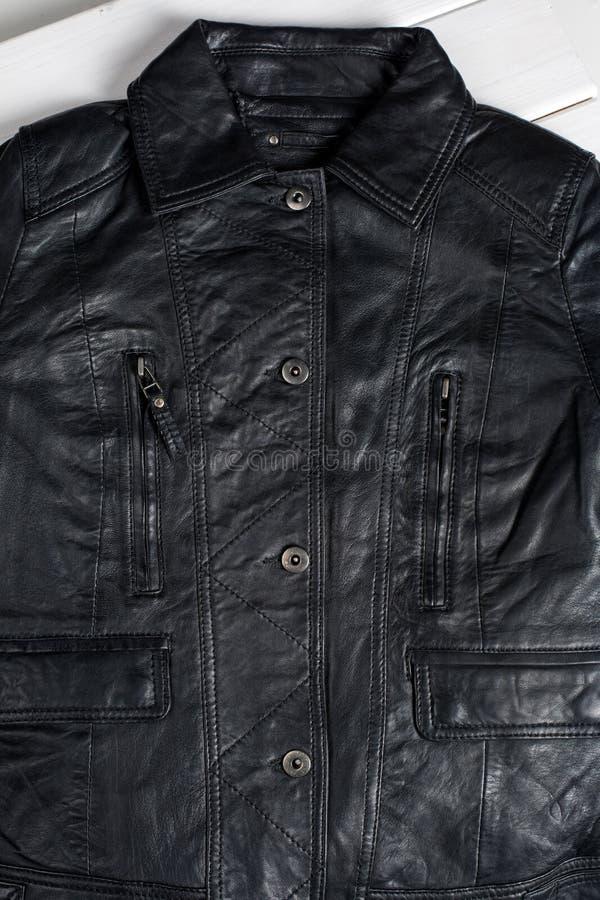 Schwarze Lederjacke stockfotos