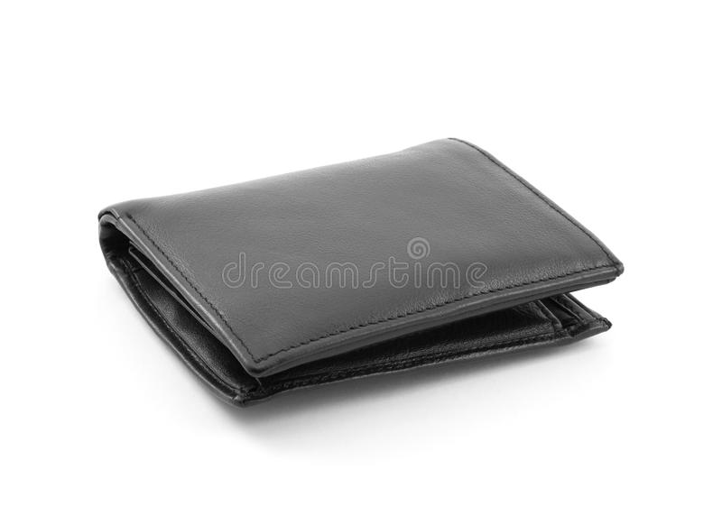Schwarze lederne Geldbörse lizenzfreie stockbilder