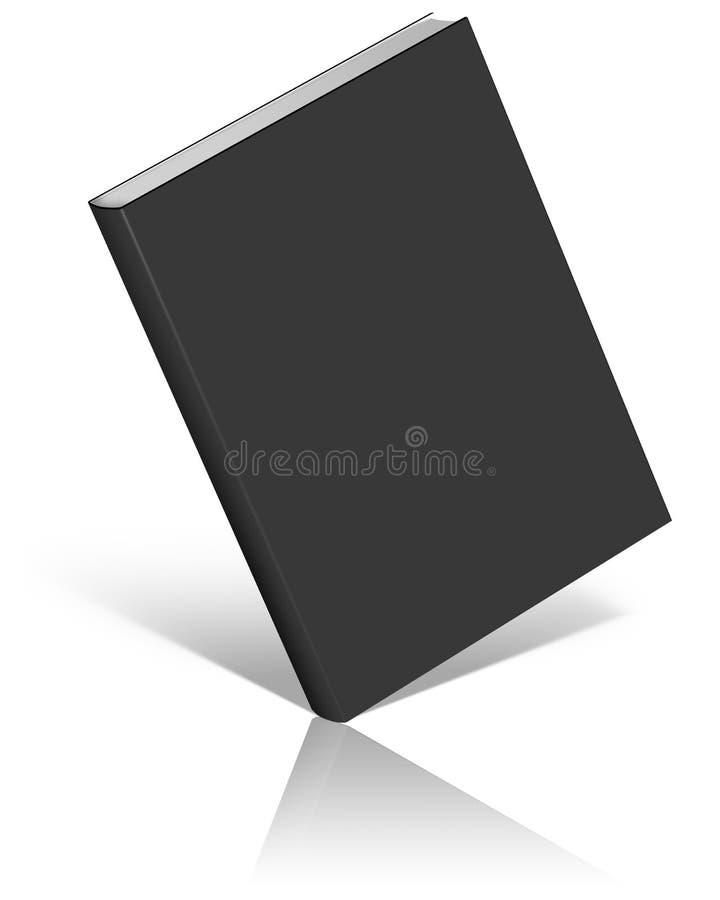 Schwarze leere Buchschablone vektor abbildung