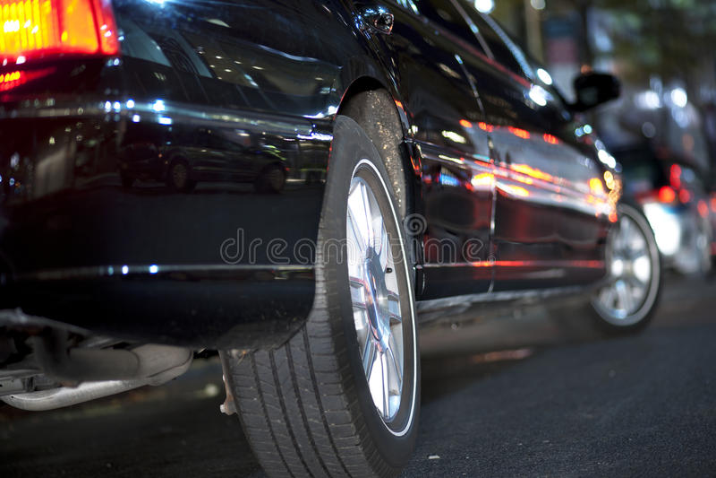 Schwarze Limousine stockbilder