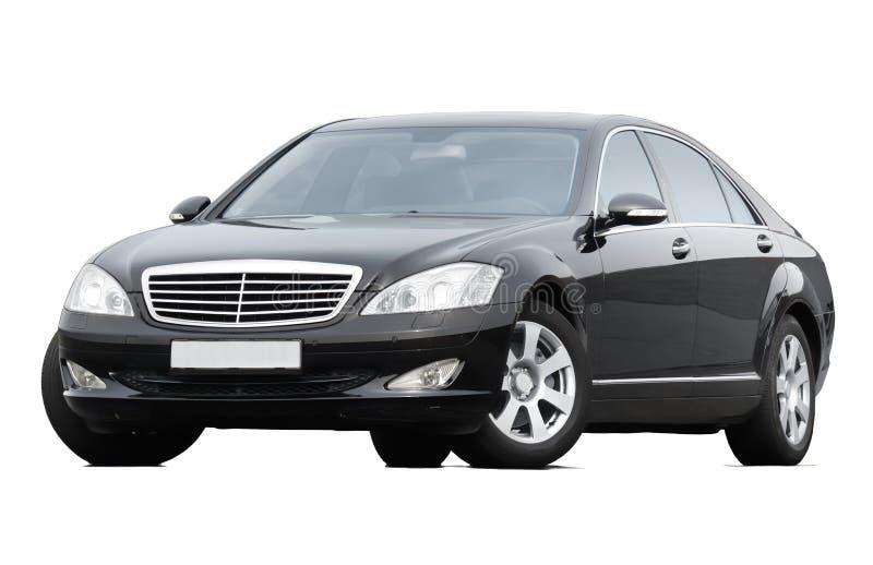 Schwarze Limousine lizenzfreie stockbilder