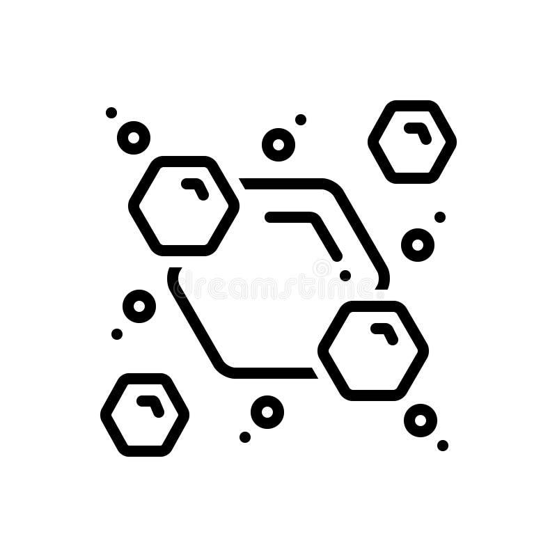 Schwarze Linie Ikone für Consist, Mähdrescher und Mischung vektor abbildung