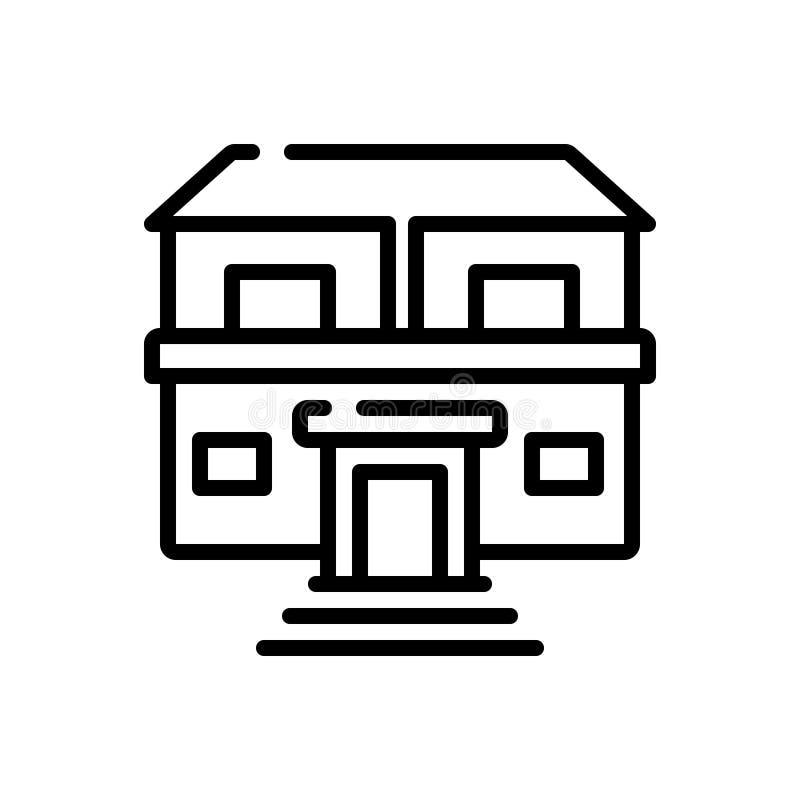Schwarze Linie Ikone für Eigentum, Reichtum und Anlagegüter stock abbildung