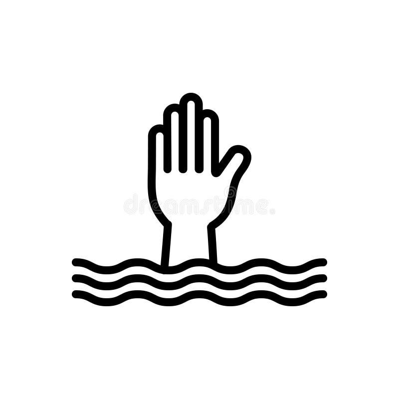 Schwarze Linie Ikone für Notwendigkeit, Bedeutung und Bedarf stock abbildung