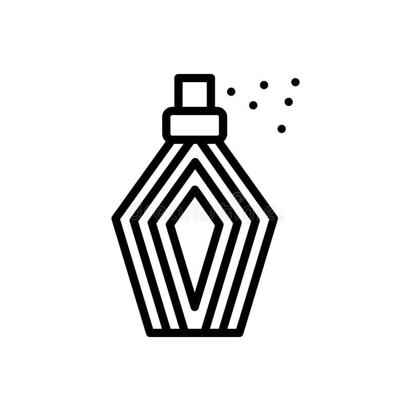 Schwarze Linie Ikone für Parfüme, Duft und Kosmetik lizenzfreie abbildung