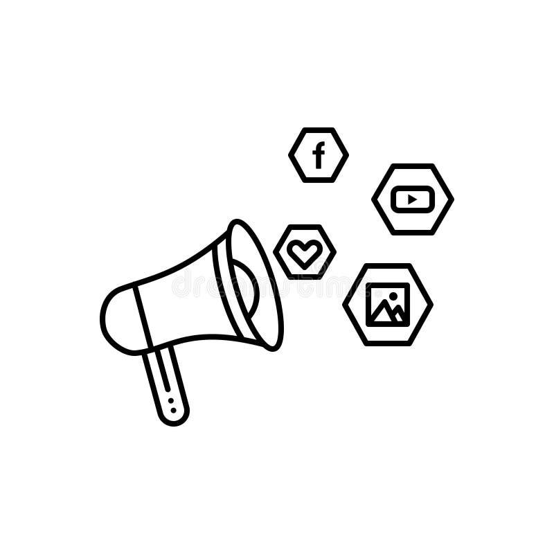 Schwarze Linie Ikone für Sozialkampagne, Übersicht und digitales vektor abbildung