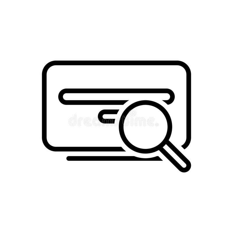 Schwarze Linie Ikone für Suche, Untersuchung und Entdeckung vektor abbildung