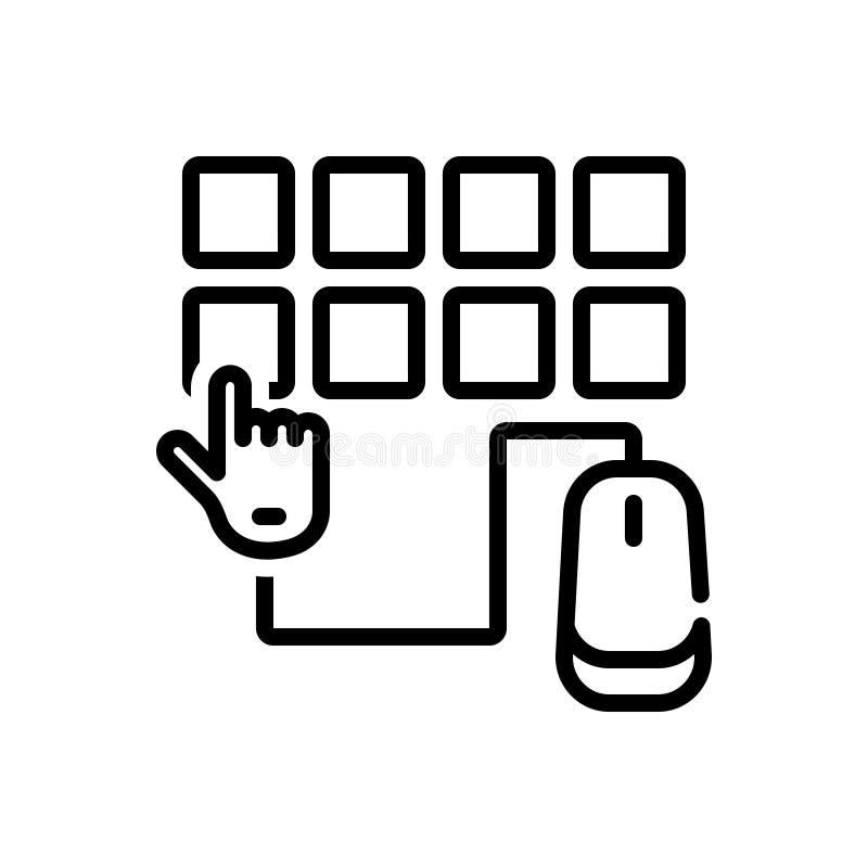 Schwarze Linie Ikone für Wahl, Gleiche und Präferenz stock abbildung