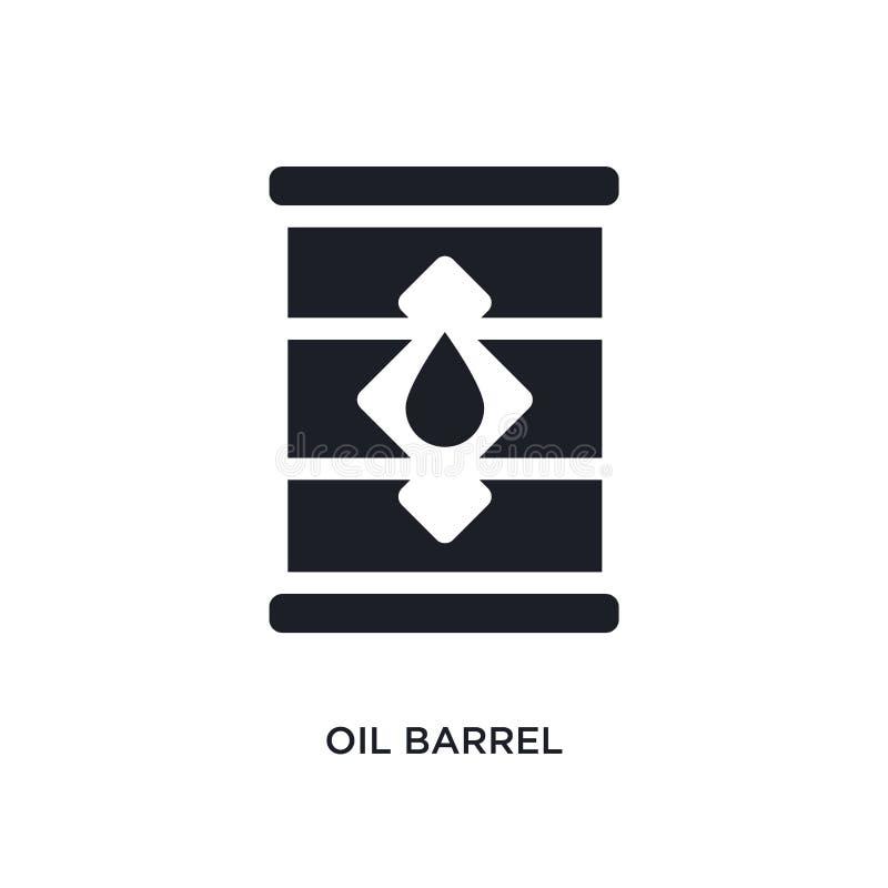 schwarze lokalisierte Vektorikone des Ölbarrels einfache Elementillustration von den Industriekonzept-Vektorikonen editable Logo  vektor abbildung