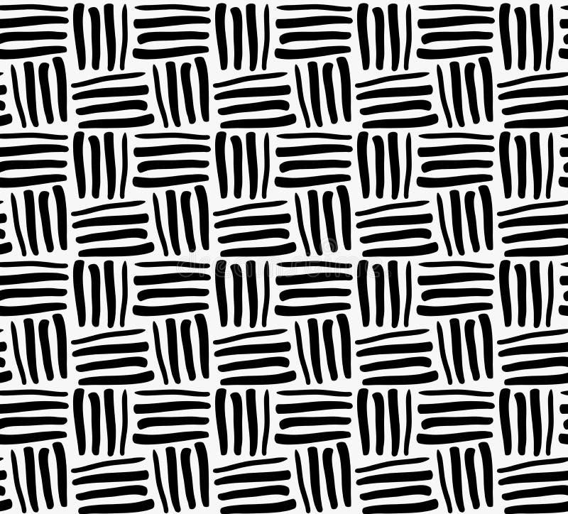 Schwarze Markierung gezeichnete Streifen stock abbildung