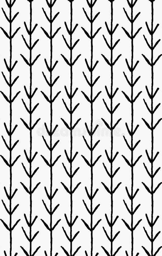 Schwarze Markierungsvertikalenpfeile stock abbildung