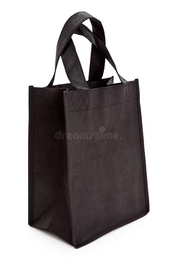 Schwarze mehrfachverwendbare Einkaufstasche lizenzfreies stockfoto