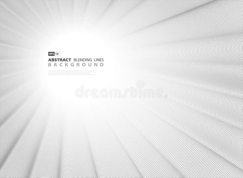 Schwarze Mischungslinie Abdeckungsvektordekoration der Zusammenfassung für Grafik Illustrationsvektor eps10 lizenzfreie abbildung