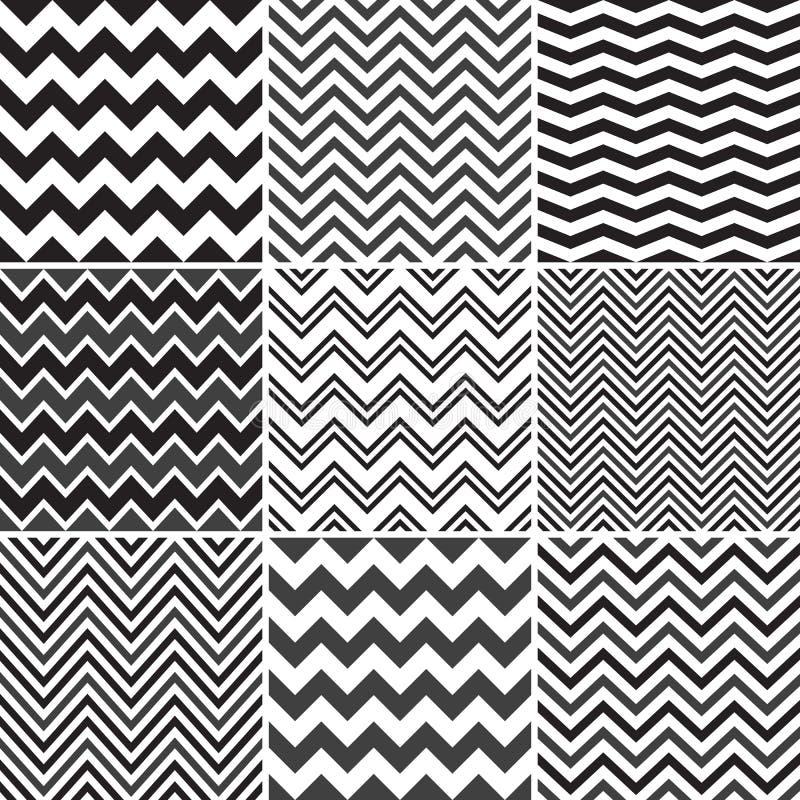 Schwarze nahtlose Muster Chevrons vektor abbildung