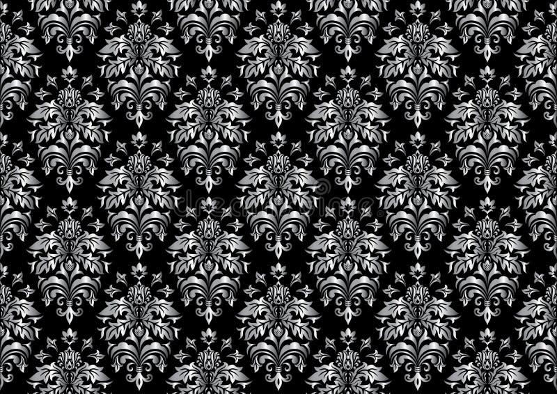 Schwarze nahtlose Tapete lizenzfreie abbildung