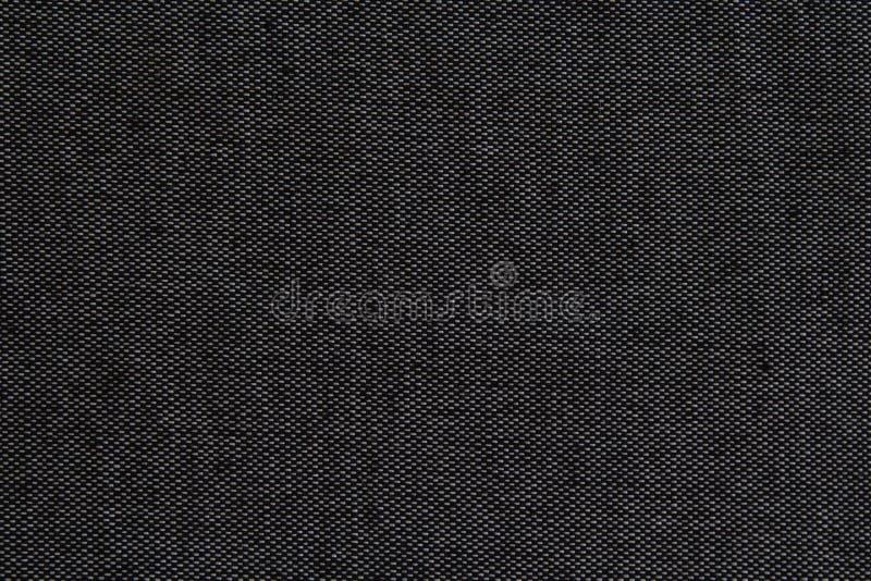 Schwarze natürliche Leinenstruktur für den Hintergrund lizenzfreies stockfoto