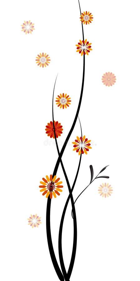 Zweige mit Blumen stock abbildung