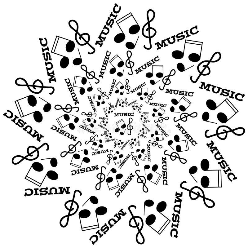 Schwarze Noten, Verzerrung Und Violinschlüssel Auf Weißem ...