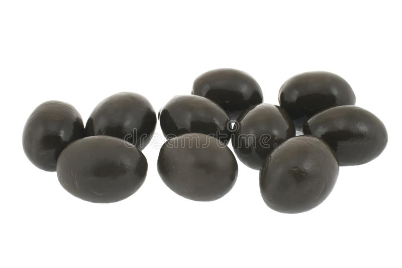 Schwarze Oliven lizenzfreie stockfotografie