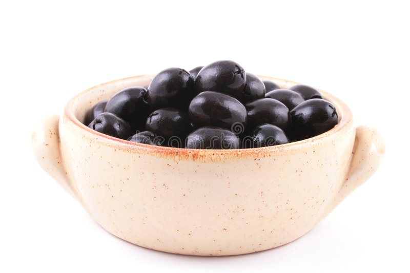 Schwarze Oliven lizenzfreie stockfotos
