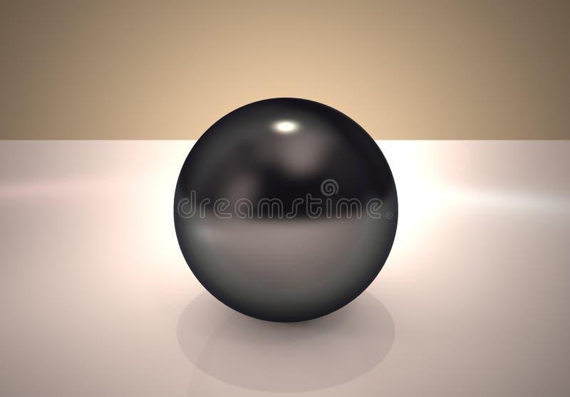 Schwarze Perle lizenzfreie abbildung