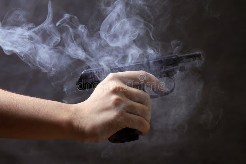 Schwarze Pistole stockfoto