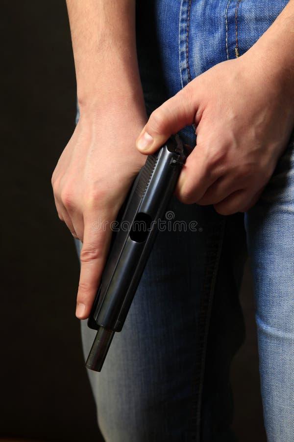 Schwarze Pistole lizenzfreie stockbilder