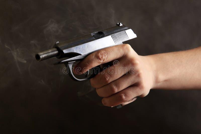 Schwarze Pistole stockfotos