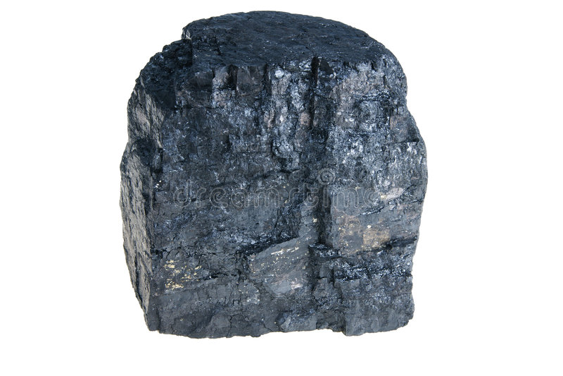 Schwarze polnische Kohle stockfotografie