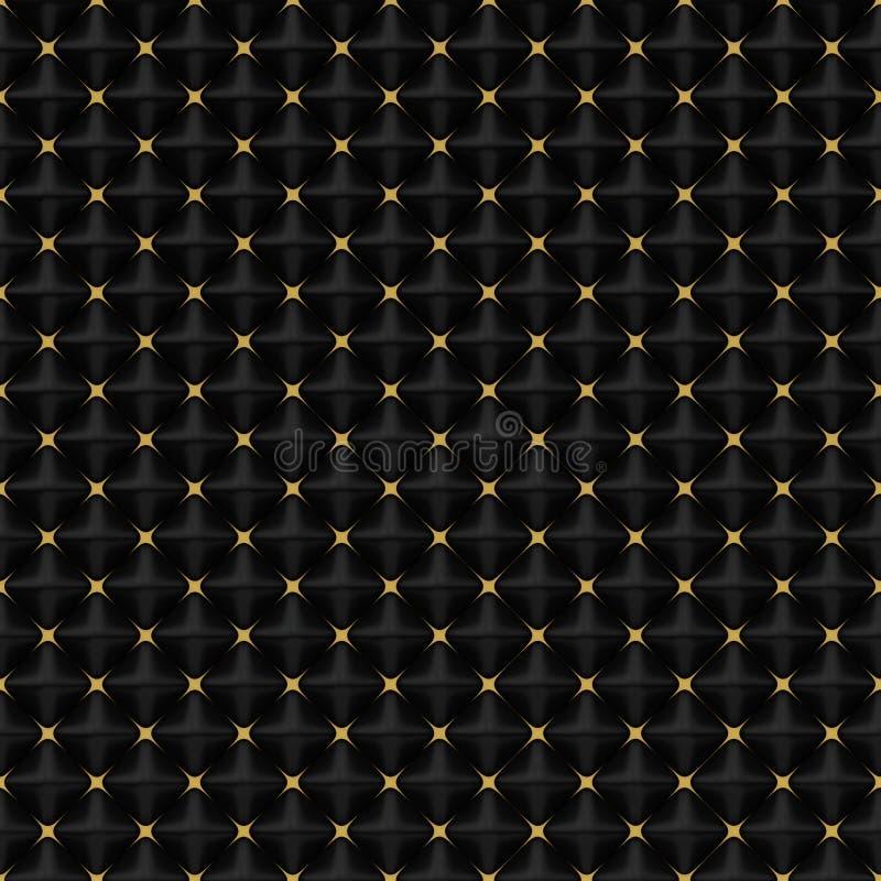Schwarze quadratische Pyramiden und Gold Sars - quadratischer Hintergrund lizenzfreie abbildung