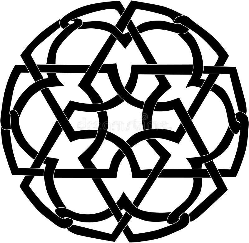 Schwarze runde Dekoration lizenzfreie abbildung