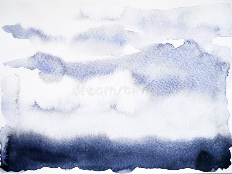 Schwarze Schattenhintergrundaquarellmalerei-Handzeichnung stock abbildung