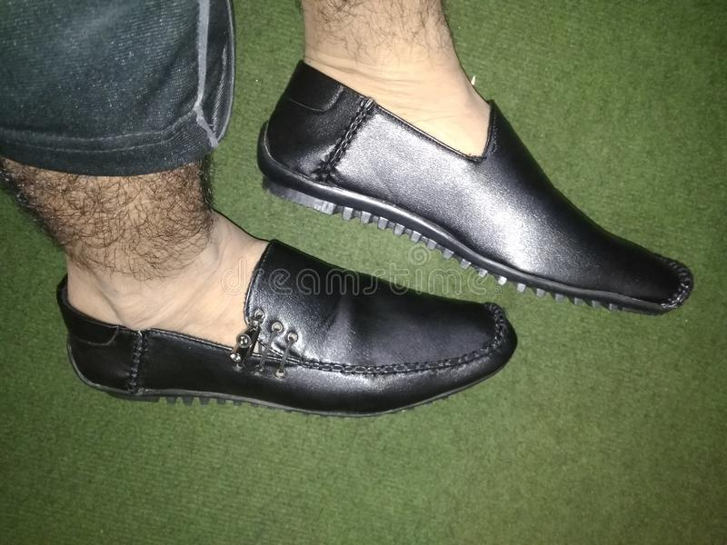 Schwarze Schuh-Art lizenzfreies stockbild