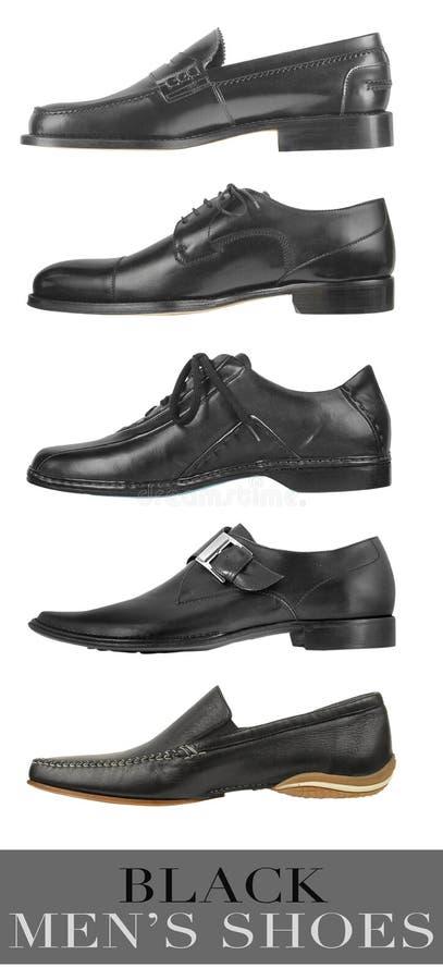 Schwarze Schuhe der Männer lizenzfreies stockbild