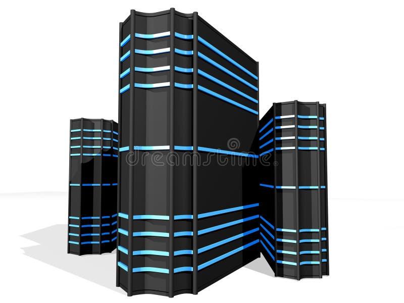 Schwarze schwarze Servers 2 stock abbildung