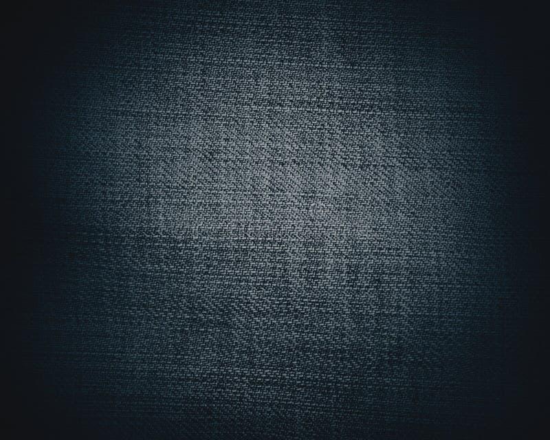 Schwarze Segeltuchbeschaffenheit oder -hintergrund lizenzfreie abbildung