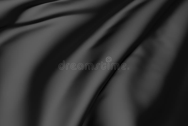 Schwarze Seide lizenzfreie abbildung