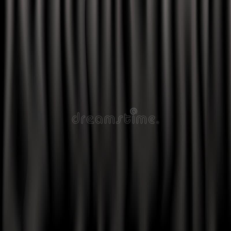 Schwarze Silk Trennvorhänge lizenzfreie abbildung