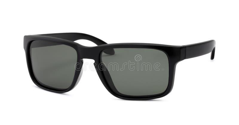 Schwarze Sonnenbrille auf weißem Hintergrund stockfoto