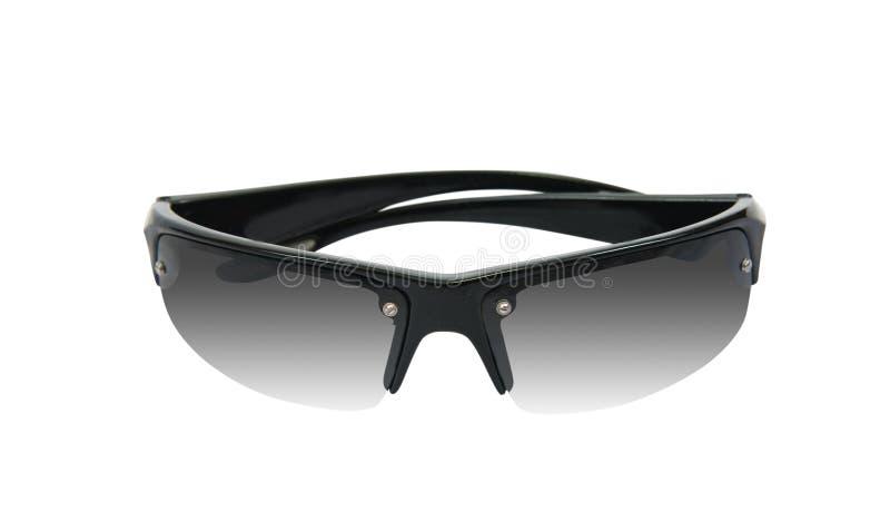 Schwarze Sonnenbrillen, getrennt auf Weiß stockfotografie